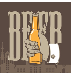 Bottle beer vector