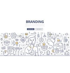 Branding Doodle Concept vector image