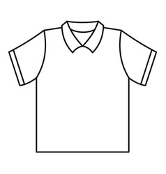 Clean polo shirt icon outline style vector
