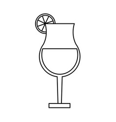 Cocktail in garnished glass icon image vector