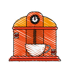 Coffee making machine icon image vector