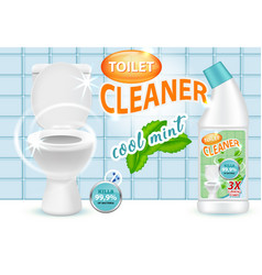 cool mint toilet cleaner ad vector image