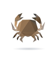 Crab abstract isolated on a white backgrounds vector image