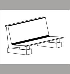 Design of a waiting chair or garden chair vector