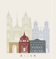 Dijon skyline poster vector