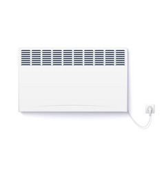 domestic electric heater home con plugged vector image