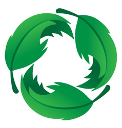 Eco Friendly Leaf Logo vector image