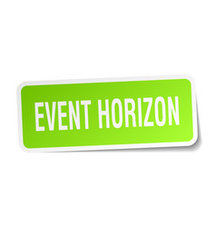 Event horizon square sticker on white vector