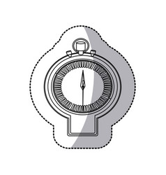 figure sticker watch icon vector image