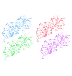 floral decorative ornaments flower branch vector image