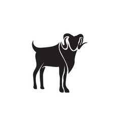goat black animals logo and symbol vector image