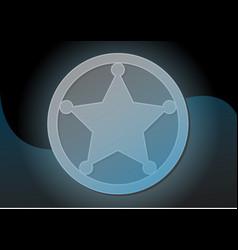 graphic cartoon blue sheriff star badge vector image