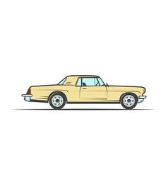 Hand-drawn yellow old car vector
