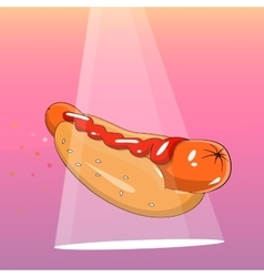 Hot-Dog vector image