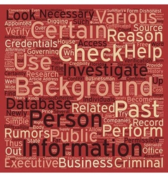How To Perform A Background Check text background vector