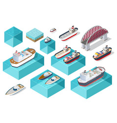 isometric ship cargo vector image
