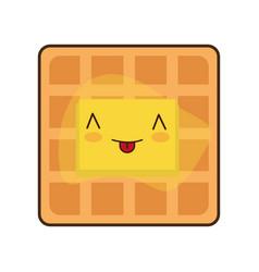 kawaii food icon vector image