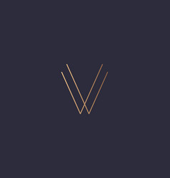 letter v logo monogram minimal style identity vector image
