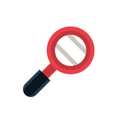 magnifier office work business equipment icon vector image