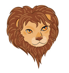 Male lion head vector