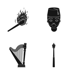 Matches turks and other web icon in black style vector