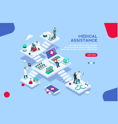medical assitance concept vector image