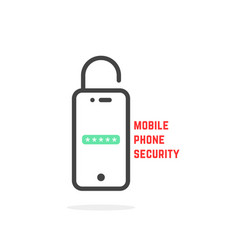 mobile phone security like login vector image