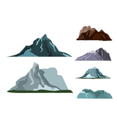 mountain landscape snow nature travel hiking peak vector image