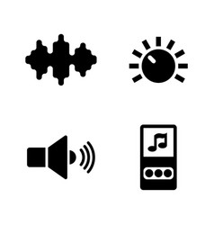 music audio mp3 player simple related icons vector image