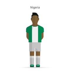 Nigeria football player Soccer uniform vector