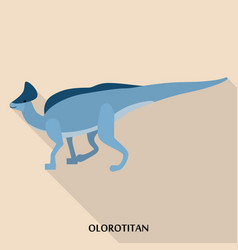 olorotitan icon flat style vector image