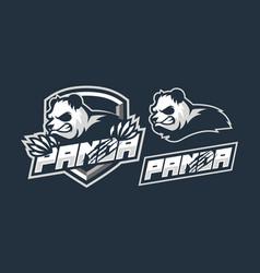 panda mascot logo design vector image