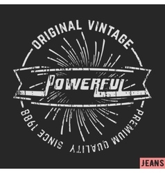Powerful vintage stamp vector