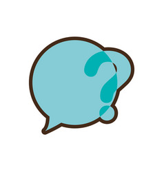 question mark round bubble speech image vector image