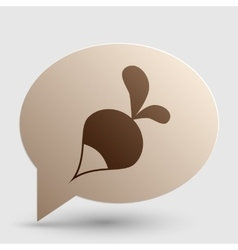 Radish simple sign Brown gradient icon on bubble vector