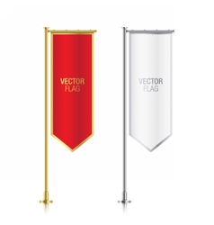 Red and white vertical banner flag templates vector
