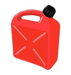 Red plastic jerrican vector