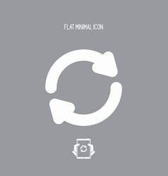 refresh button - flat minimal icon vector image
