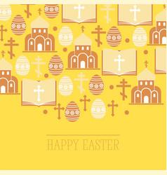 religion pattern catholic church vector image