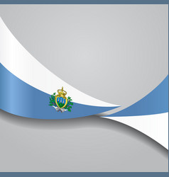 San marino wavy flag vector