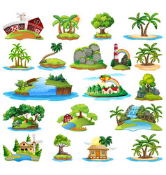set island nature vector image