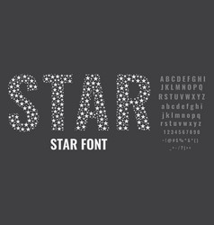Set letters made stars creative fonts vector