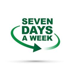 Seven days green vector
