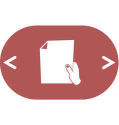 sheet in hand icon vector image