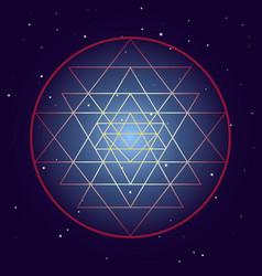 shri yantra chakra symbol cosmic mystical diagram vector image