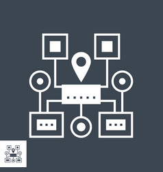 Sitemap navigation glyph icon vector