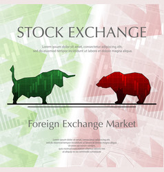 Stock exchange background vector