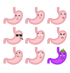 stomach sad emoji face avatar belly sorrowful vector image