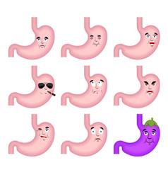 stomach sad emoji face avatar belly sorrowful vector image