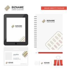 Tablets business logo tab app diary pvc employee vector